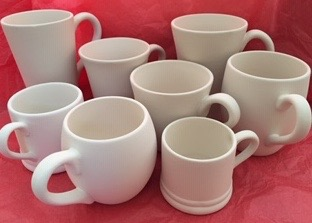 Hug in a mug, various sizes & prices